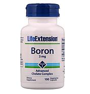 Life Extension, Boron, 3 мг, 100 вегетарианских капсул, фото 3