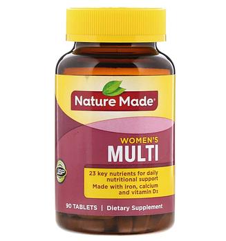 Nature Made, Мультивитамины для женщин, 90 таблеток