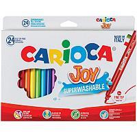 """Фломастеры Carioca """"Joy"""", 24цв., смываемые, картон"""