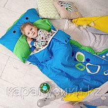 Детский спальный мешок синий