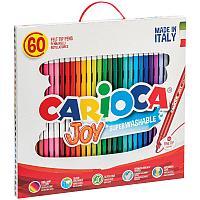 """Фломастеры Carioca """"Joy"""", 60шт., 30цв., смываемые, картон, пластиковая ручка"""