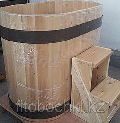 Купель кедровая овальная 1000(H)*700(B)*1200-1250(L) мм