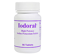 Optimox, Iodoral, Йод/йодид калия, 90 таблеток
