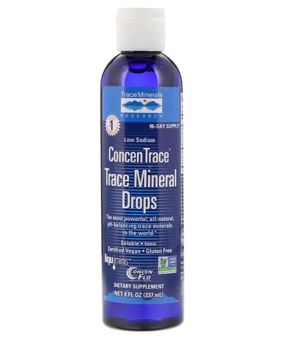 Trace Minerals Research, ConcenTrace, микроэлементы в форме капель, 237 мл