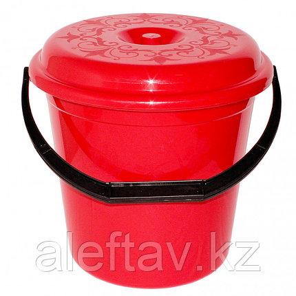 Ведро пластиковое с крышкой 15 литров, фото 2