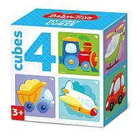 Кубики «Транспорт» (4 шт.), фото 1