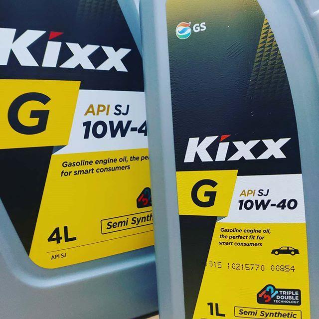 Полусинтетическое масло KIXX SJ 10W40 1л.