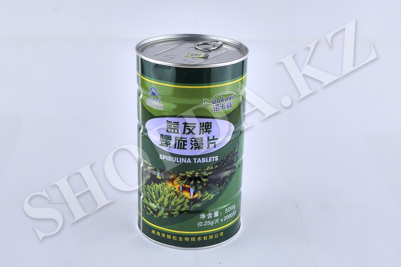 Таблетки со спирулиной Spirulina tablets. 2000 таблеток