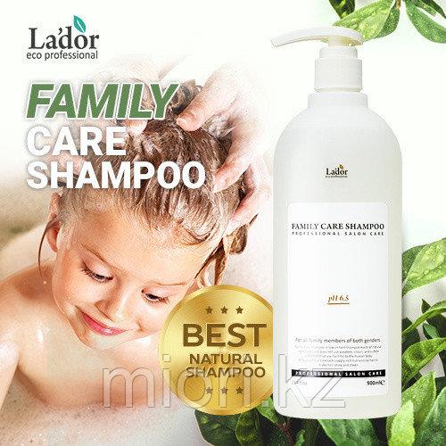 Профессиональный шампунь без силиконов и парабенов для всей семьи  LADOR Family Care Shampoo