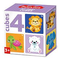 Кубики «Звери» (4 шт.)