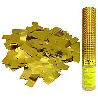 Хлопушка пневматическая ПатиБум, 30см, в пластиковой тубе, золотое конфетти ПатиБум