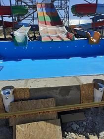 Облицовка бассейнов ПВХ лайнером Haogenplast blue 8283 включая монтаж фильтрационного оборудования Poolking, г.Кульсары 2