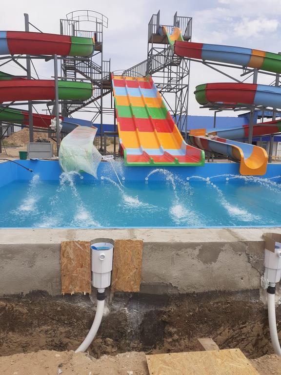 Облицовка бассейнов ПВХ лайнером Haogenplast blue 8283 включая монтаж фильтрационного оборудования Poolking, г.Кульсары