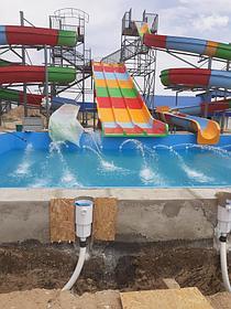 Облицовка бассейнов ПВХ лайнером Haogenplast blue 8283 включая монтаж фильтрационного оборудования Poolking, г.Кульсары 4