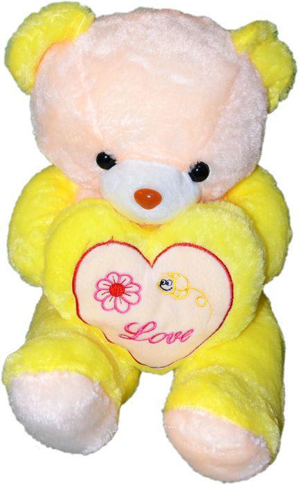 Мишка средний с сердцем (Te amo - LOVE YOU) надпись   33см