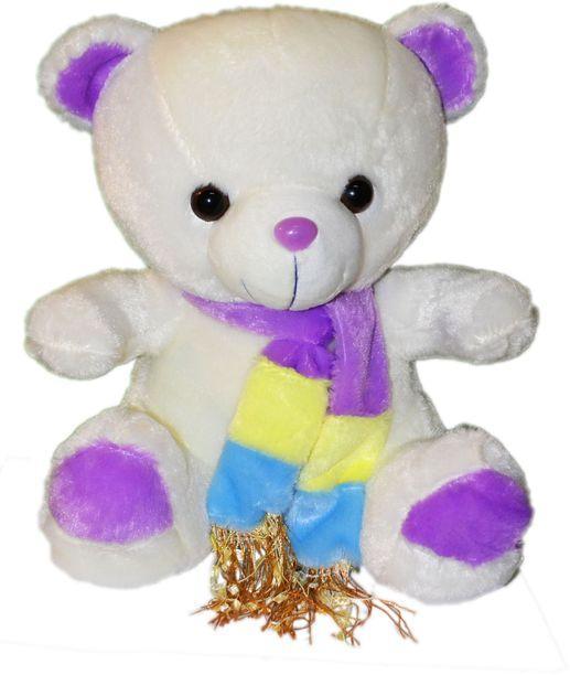 Мишка с разноцветным шарфом  3 вида 26см