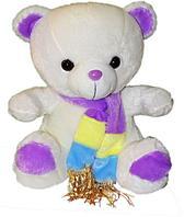 Мишка с разноцветным шарфом  3 вида 26см, фото 1