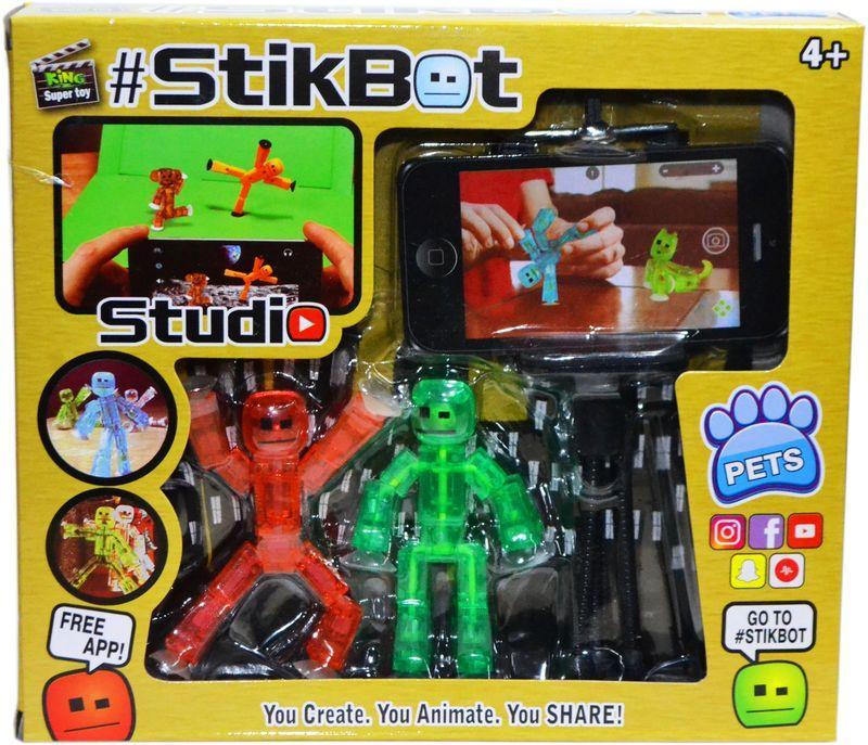 201 Стикбот  снимаем фильм фигурка StickBot и штатиф для телефона 21*18см (аналог,реплика)