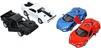 F1104-2 Спортивные металл машинки открываются двери и музыка 2 вида из 12шт цена за 1шт 12*4см, фото 1