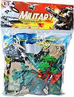 79105 Военная база с солдатами и техникой Military 30*22см