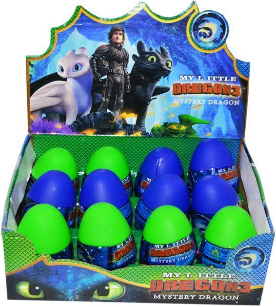 """90319A Дракон с слаймом в яйце серия """"Как приручить дракона"""" из 12шт цена за 1шт 8*6см"""