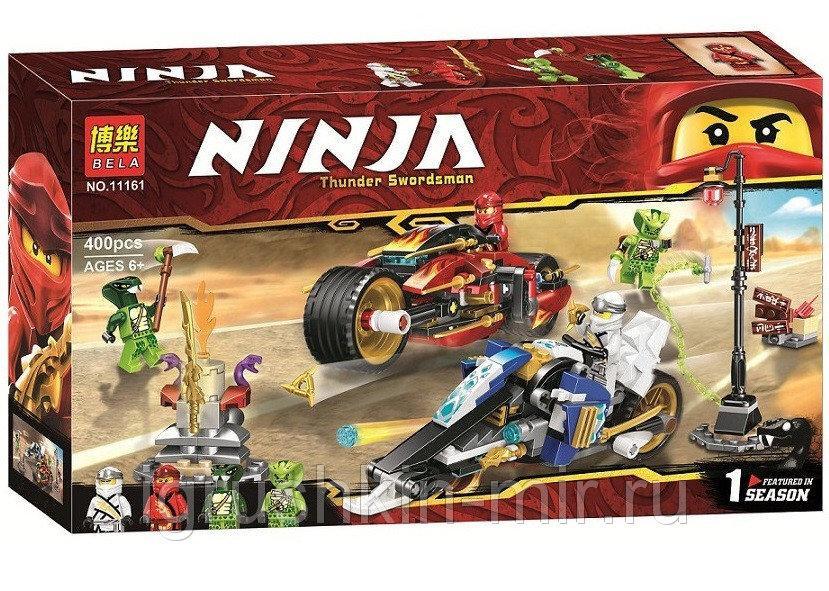 11161 Ниндзяго конструктор 400дет Ninja Thunder Swordsman 39*22см