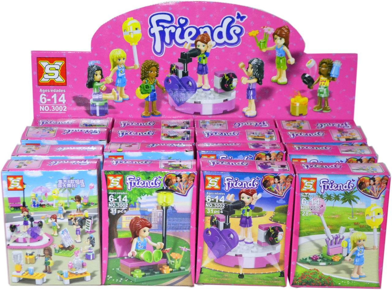 3002 Friends конструктор для девочек 8 видов из 16шт 13*10см