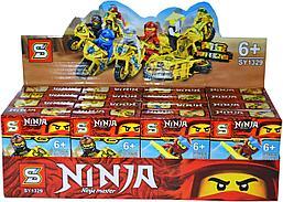 1329 Ниндзяго на мотоцикле конструктор 8 видов из 16шт 13*10см