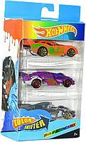 KBS937-3 Hot wheel Хот вил 3 машины меняют цвет от воды ColorShifter 18*12см