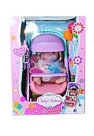 A551A Baby Ardana Девочка с коляской и шарами 36*27см