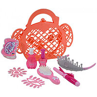 "1566D ""Fashion beautiful"" корзинка в форме обезьянки с аксессуарами для девочек 24*29см"