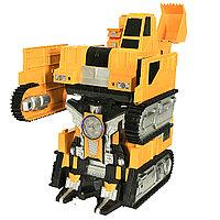 9902 Робот Эксковатор,трансформер, ездит, свет муз, 20*12см