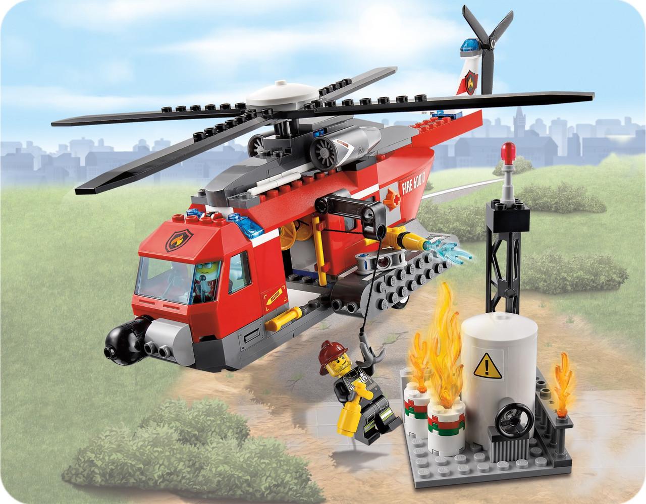 QL0218 Пожарный вертолет City Hero конструктор 252дет 33*23см