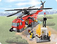 QL0218 Пожарный вертолет City Hero конструктор 252дет 33*23см, фото 1