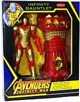 WC02-6 Мстители фигурки героев с Перчаткой Бесконечности 27*22, фото 1