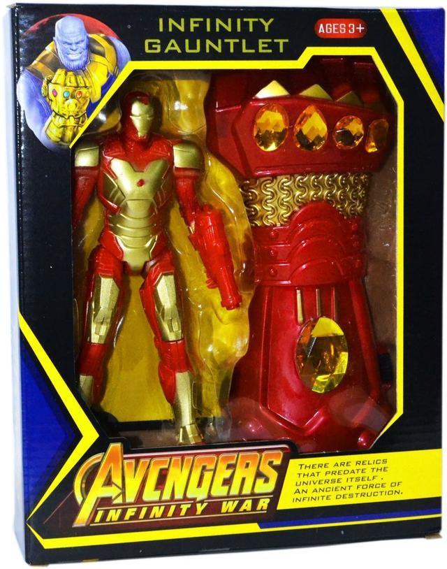 WC02-6 Мстители фигурки героев с Перчаткой Бесконечности 27*22