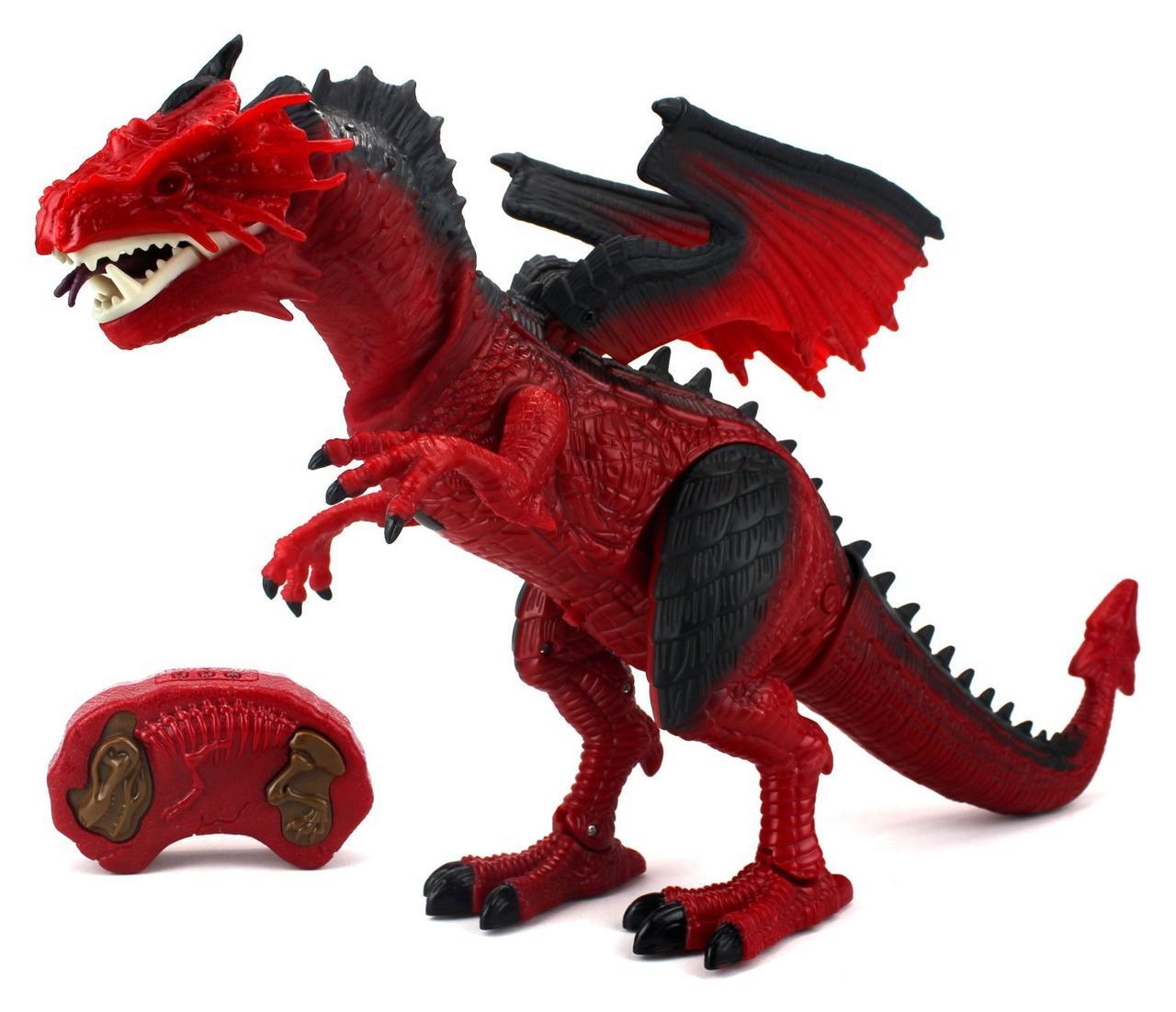 RS 6159 Дракон красный на р/у (движение,машет крыльями,дымит,свет,звук) 53*31см
