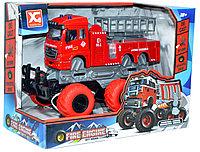 XG878-A61ABC Монстер-Пожарный 6 колес,3вида  Truck OFFROAD, 24*18см, фото 1