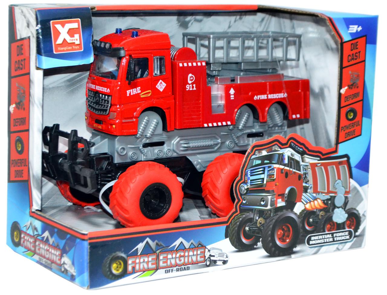 XG878-A61ABC Монстер-Пожарный 6 колес,3вида  Truck OFFROAD, 24*18см