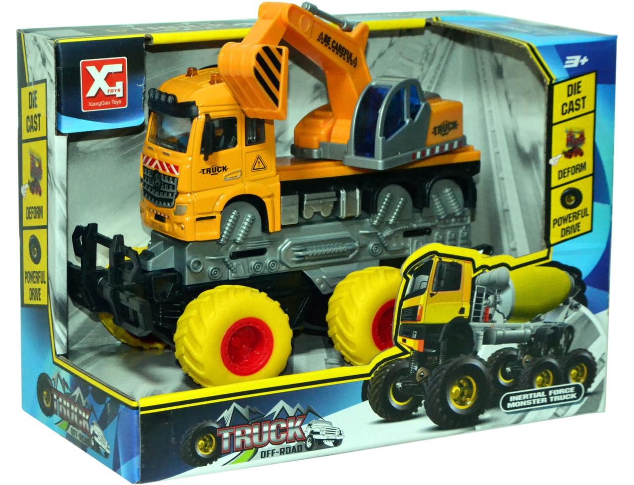 Xg878-A62ABC Монстер-Строительный 6 колес,3 вида Truck OFFROAD, 24*18см