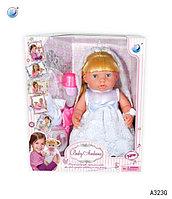 """Мини трещина на прозрачной упаковке!!! A323G Baby Ardana кукла пупс """"Невеста"""" 38*32см"""