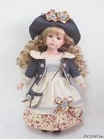 DF 12007 Форфоровая кукла в роскошном платье Porcelam Doll 43*13см