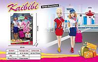 BLD 267 Кукла Стюардесса с одеждлой и чемоданчиком Kaibibi girl 32*22см