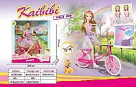 BLD 264  Кукла (сгибается все) с велосипедом Kaibibi girl 32*29см