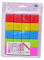 014 Кубики пластмасс 20шт в уп 18*13см