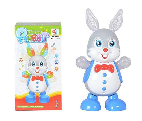 XJ-3007 Танцующий Зайчик (музыка,свет,движение) Dancing Rabbit 19*10см