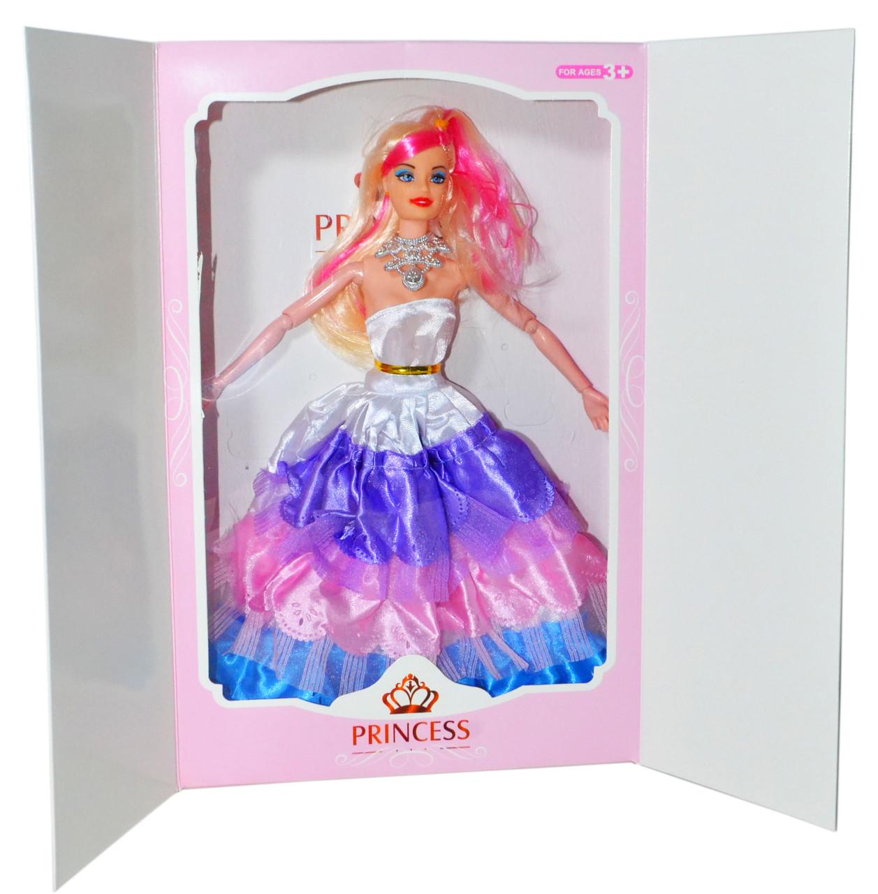 186-7 Кукла подарочная упаковка в пышном платье суставы гнуться 33*22см