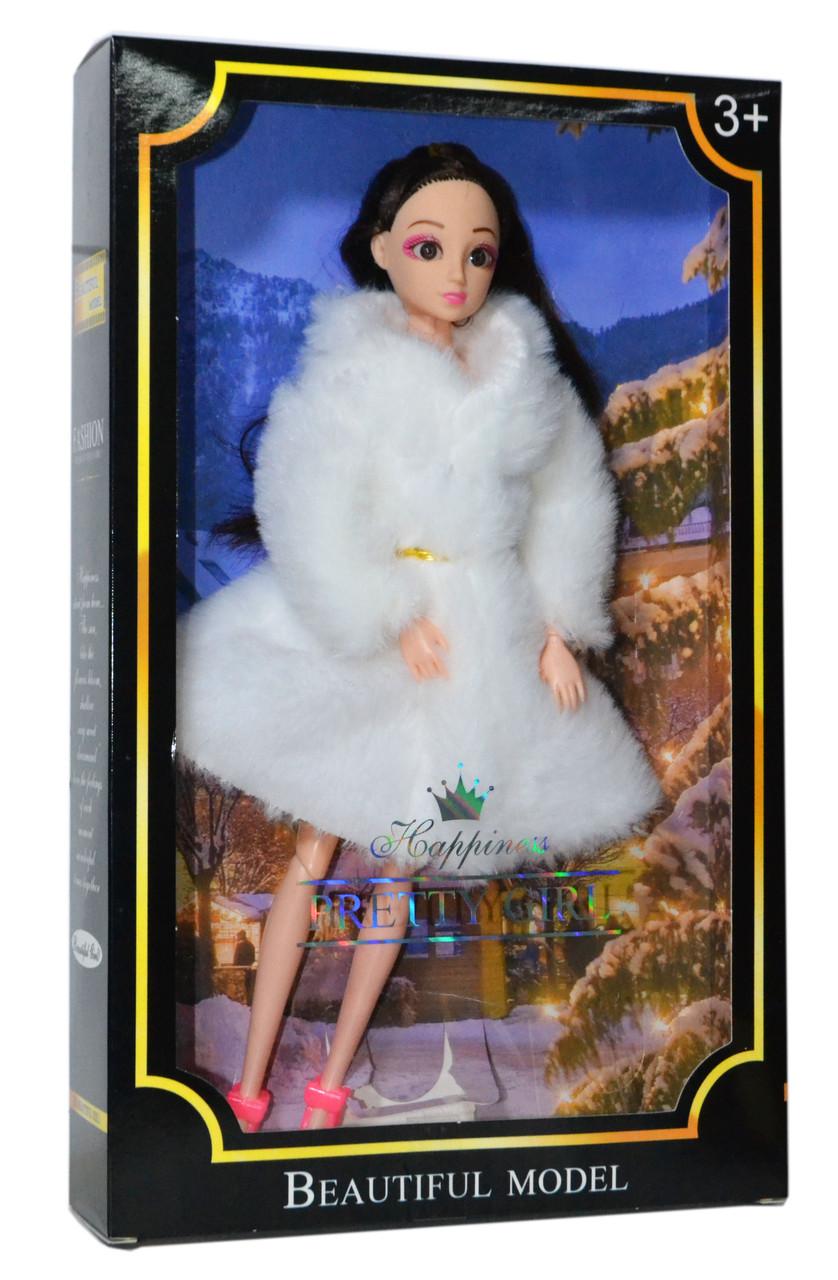 808 Кукла в Шубе черная упаковка Pretty girl 33*20см