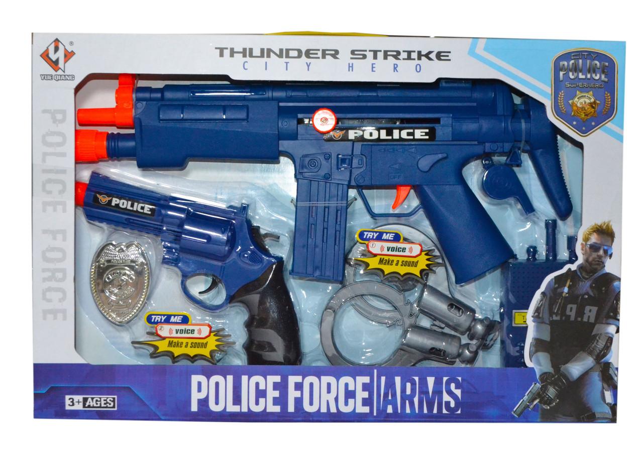 PO14 Полицейский набор Автомат пистолет и 8 аксессуаров Police Force 42*27см