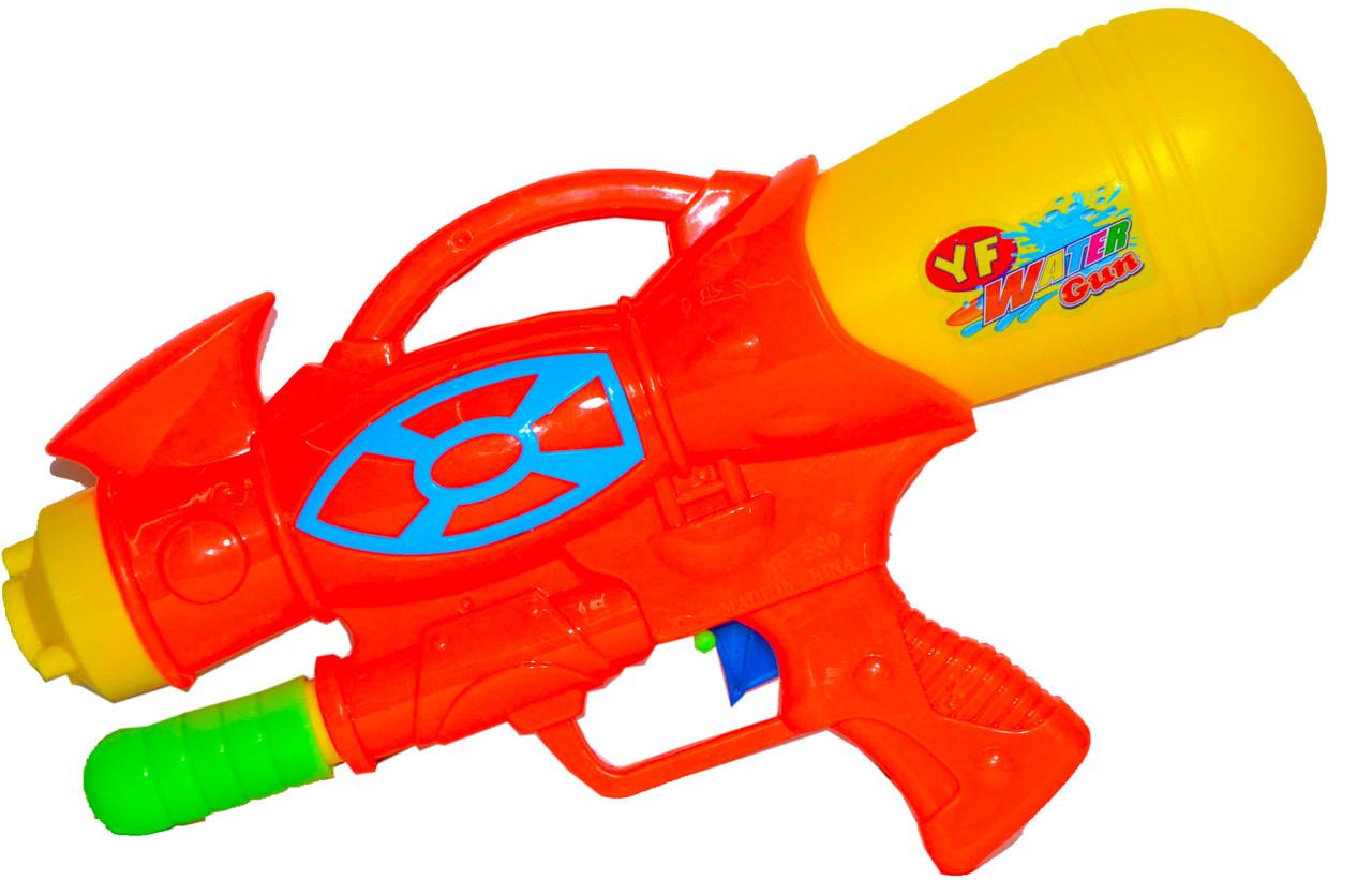 589 Водяной пистолет с насосом YF Water Gun  в пакете 31*16см